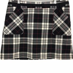 Tommy Hilfiger Tartan Plaid Mini Lined Skirt